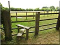 SP6212 : A stile on the footpath by Steve Daniels
