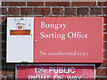 TM3389 : Bungay Sorting Office sign by Adrian Cable