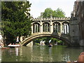 TL4458 : St John's College - Bridge of Sighs by M J Richardson