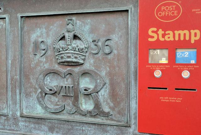 Edward VIII postbox, Bangor (Co Down)
