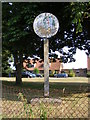 TM2983 : St.Cross South Elmham Village sign by Adrian Cable