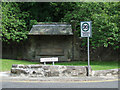 NS3477 : Stone Seat at Station Road by Thomas Nugent