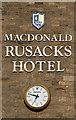 NO5017 : Rusacks Hotel sign at St Andrews by Walter Baxter