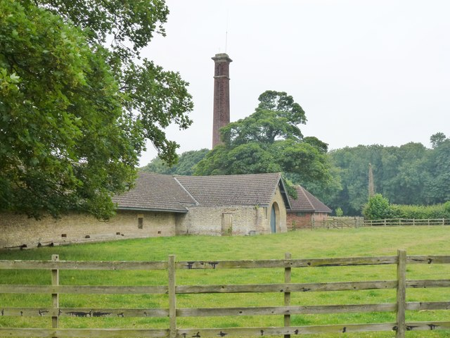 Boiler house chimney at Normanton Lodge Farm