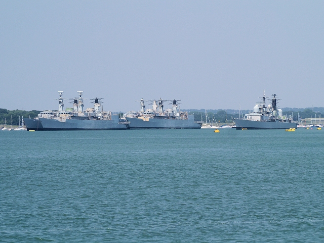 Mothballed Warships by The Dolphins, Portsmouth Harbour