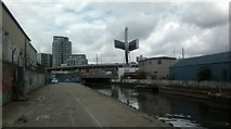 TQ3783 : View of Bow Flyover from the Lea Navigation by Robert Lamb