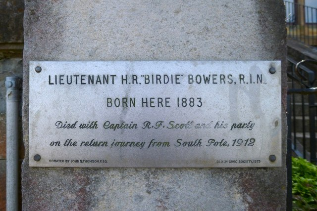 Plaque at birthplace of Birdie Bowers