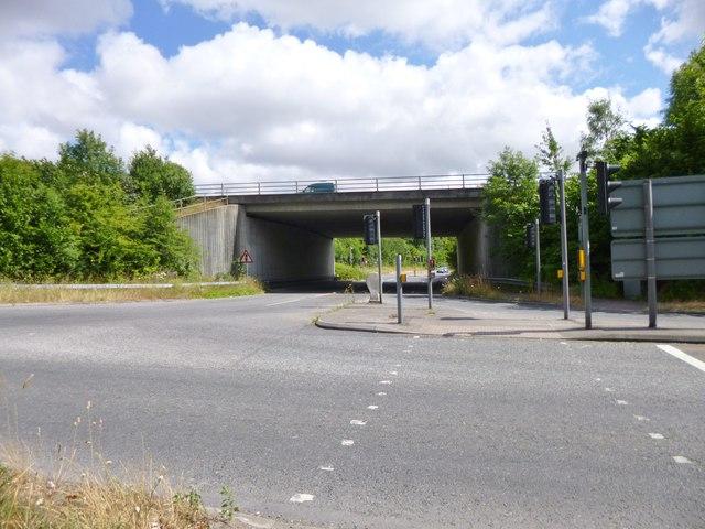 Twyford, motorway bridge