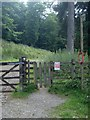 SK1592 : Start of footpath from the lane by Howden Reservoir by Andrew Hill