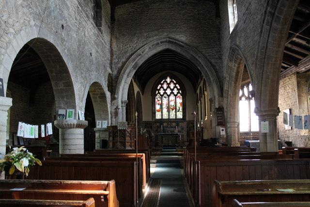 Interior, St John the Baptist church, Colsterworth