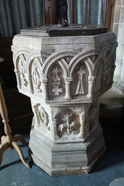 Font, St John the Baptist church, Colsterworth