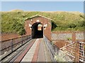 SZ6286 : Entrance to Bembridge Fort by David Dixon