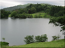NY3404 : Loughrigg Tarn from near to The How by Peter S