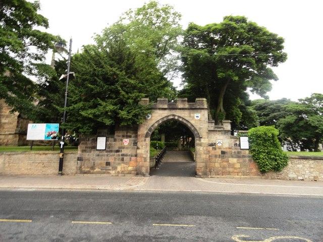 Entrance to the churchyard