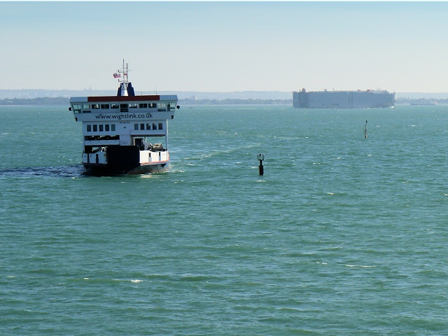 Wightlink Ferry Approaching Fishbourne