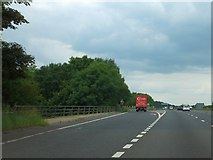 SU5707 : Westbound exit slip for M27 junction 10 by David Smith