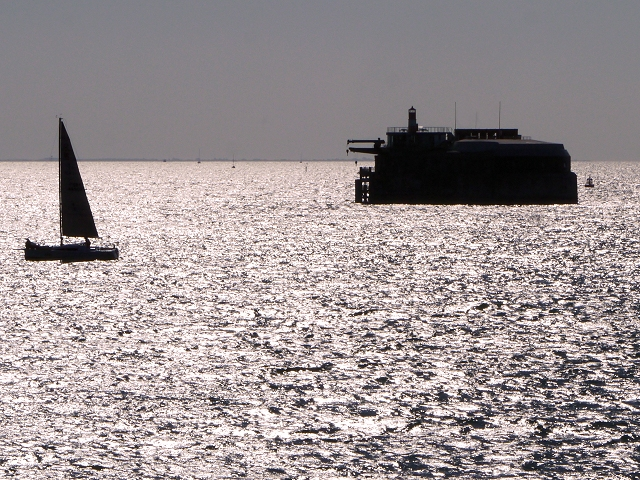 Spitbank (Spitsand) Fort in The Solent