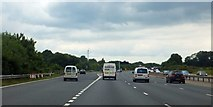 SU5407 : The start of the westbound exit slip for M27 junction 9 by David Smith