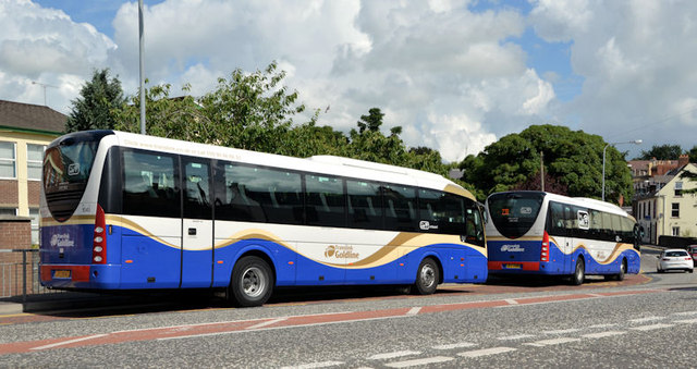Two Goldline coaches, Dromore (2013-2)