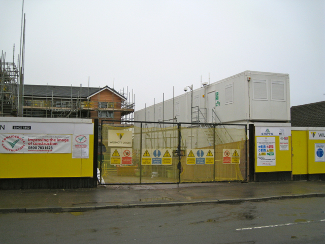 Contractor's offices, north end of All Saints Road