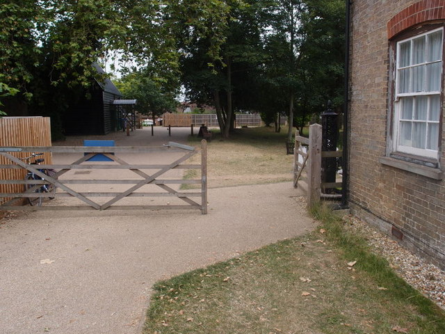 Entrance gates at The Museum of East Anglian Rural Life