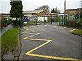 SP2966 : All Saints Junior School entrance, Nelson Avenue by Robin Stott