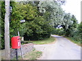 TM3282 : St.Nicholas & St.Nicholas Postbox by Adrian Cable