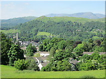 NY3704 : Ambleside, Loughrigg and the Coniston Fells by Peter S
