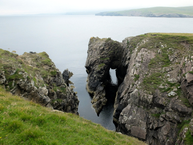 Natural arch on the Ness of Trebister