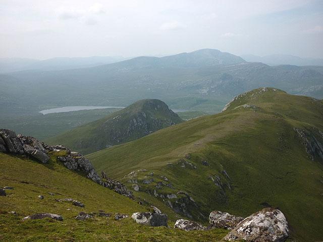 The ridge west of Beinn Bheag