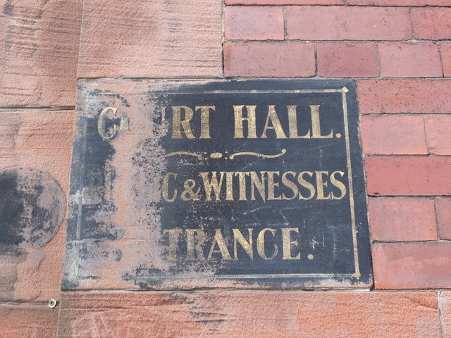 Court Hall sign