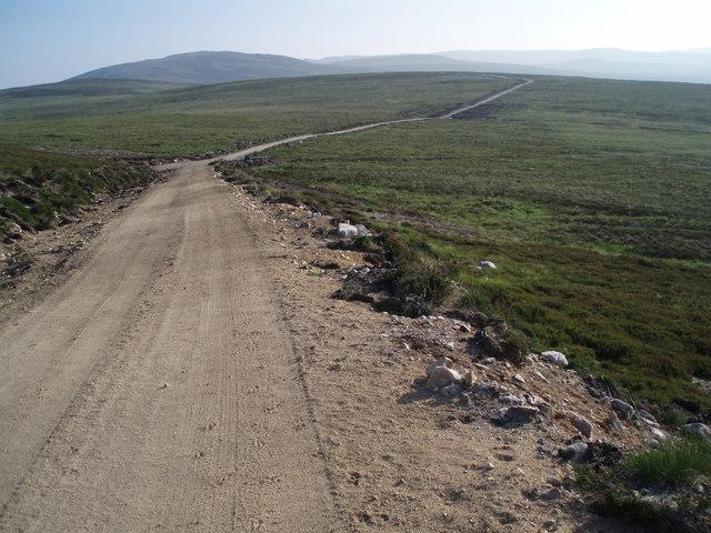 Track heading SW off Carn nan Clach Garbha