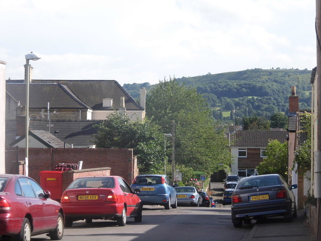 The view from Overbury Street, Charlton Kings