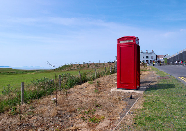 Telephone call box at the Giant's Causeway
