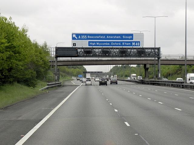 Northbound M40 Motorway
