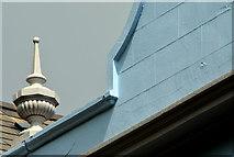 J5081 : Bangor Masonic hall (detail) by Albert Bridge