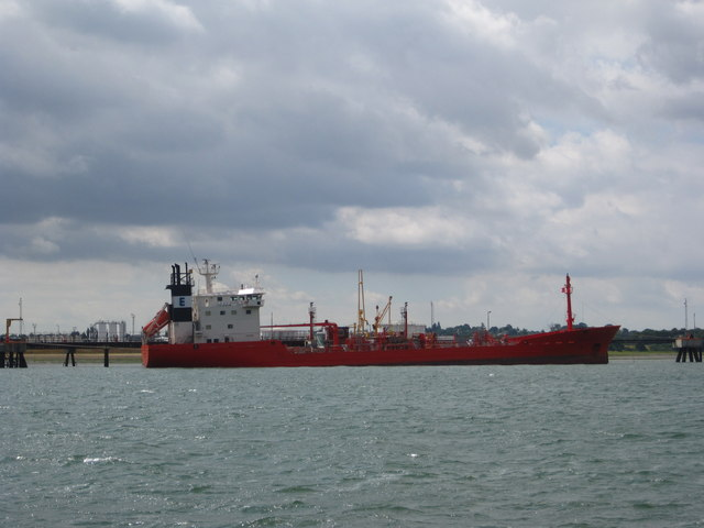 Tanker at the jetty off Parkeston refinery