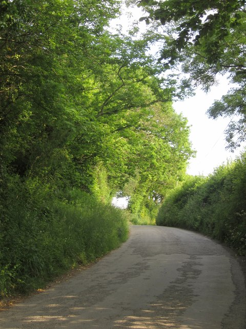 Lane south of Pillaton