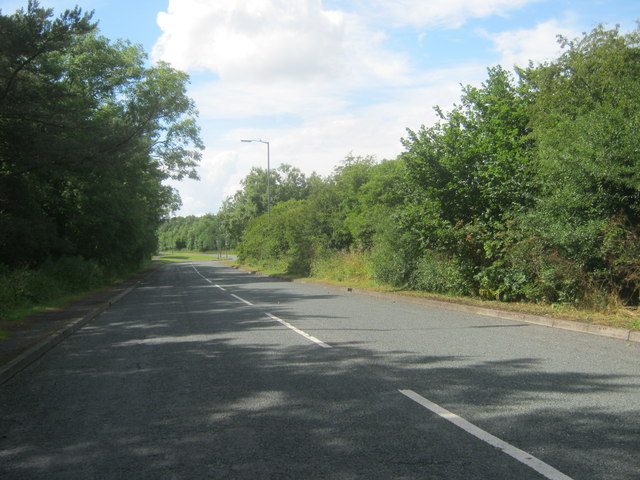 The eastern end of Durham Road in Wingate about to join the A181