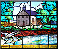 NY3971 : Graham memorial window, Kirkandrews on Esk Church by Rose and Trev Clough
