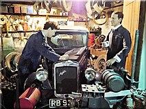 SP3379 : Garage Scene, Coventry Transport Museum by David Dixon
