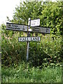 TM3083 : Roadsign on Hall Lane by Adrian Cable