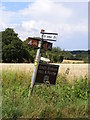TM3083 : Roadsign on Fox Hill by Adrian Cable