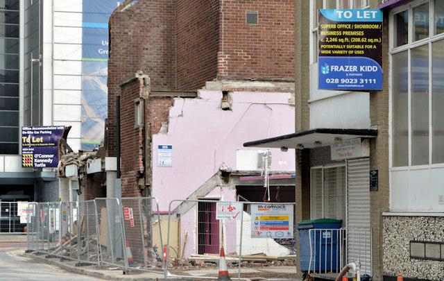 York Street demolition work, Belfast (2013-8)