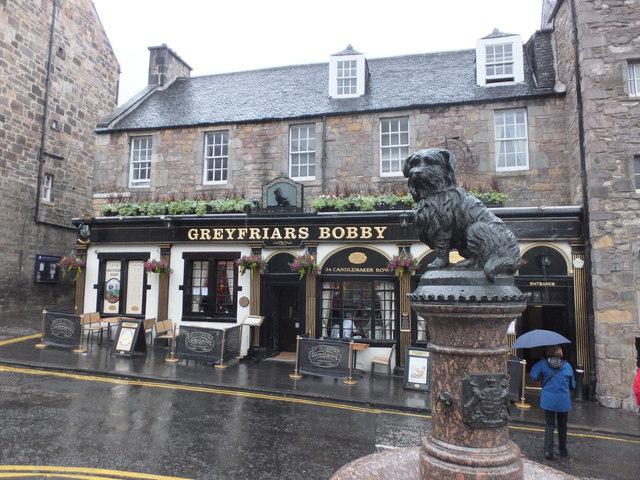 Greyfriars Bobby on a grey Edinburgh day