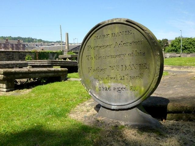 Gravestone of William Davie