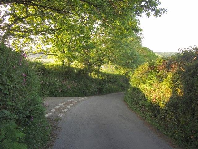 Junction near Berry Farm