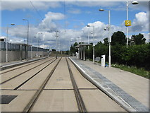 NT1772 : Tram stop at The Gyle by M J Richardson