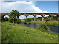 SJ5876 : Dutton Viaduct from the River Weaver by Maggie Cox