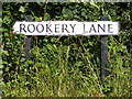 TM3281 : Rookery Lane sign by Adrian Cable